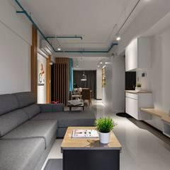 輕.透:  客廳 by 築川室內裝修設計有限公司