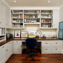 Luxury Kalorama Condo Renovation in Washington DC:  Study/office by BOWA - Design Build Experts