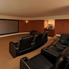 Purchase Consultation and Whole House Renovation in Potomac, Maryland:  Media room by BOWA - Design Build Experts