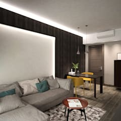 Cadogan | Kennedy Town | Hong Kong:  Living room by Nelson W Design