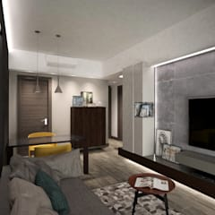 Cadogan | Kennedy Town | Hong Kong:  Living room by Nelson W Design,