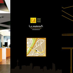 Oficina Avenida de la Albufera: Estudios y despachos de estilo  de Arsitek