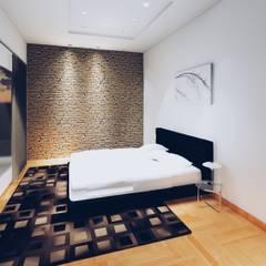 Casa G: Dormitorios de estilo moderno por Silene Paredes Jara