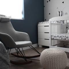 Cuarto de gemelos: Recámaras para bebés de estilo  por D.I. Pilar Román