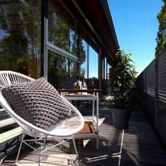 Penthouse-Terrasse :  Terrasse von Münchner home staging Agentur GESCHKA