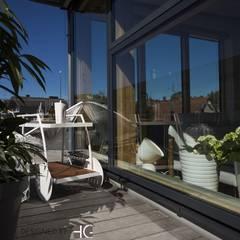 Penthouse-Terrasse - Servierwagen :  Terrasse von Münchner home staging Agentur GESCHKA