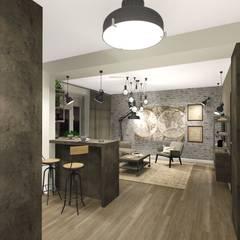 :  Corridor & hallway by KOKON zespół architektoniczny