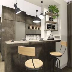 : industrial Kitchen by KOKON zespół architektoniczny