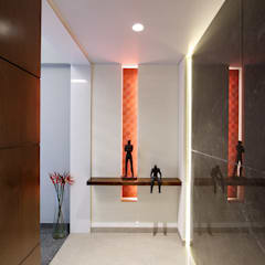 safal penthouse Modern corridor, hallway & stairs by USINE STUDIO Modern
