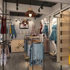 Vista Interior (ingreso principal): Espacios comerciales de estilo  por Priscila Meza Marrero