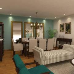 Remodelación Departamento Surco: Comedores de estilo  por Priscila Meza Marrero
