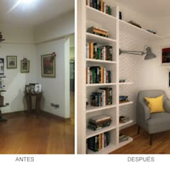 Remodelación Departamento Surco: Salas / recibidores de estilo  por Priscila Meza Marrero