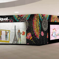 Concept Store Desigual: Espacios comerciales de estilo  por Priscila Meza Marrero, Ecléctico Madera Acabado en madera