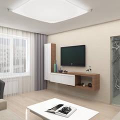 Дизайн-проект квартиры в стиле природный минимализм: Гостиная в . Автор – Студия дизайна и декора Светланы Фрунзе