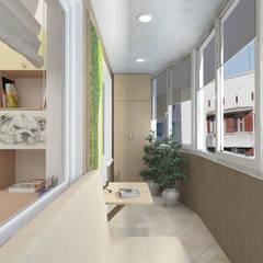 Дизайн-проект квартиры в стиле природный минимализм: Окна в . Автор – Студия дизайна и декора Светланы Фрунзе