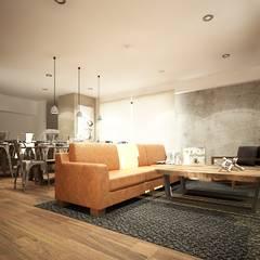 Diseño de salas: Salas de estilo industrial por Zono Interieur