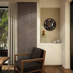 Diseño de interiores: Pasillos y recibidores de estilo  por Zono Interieur