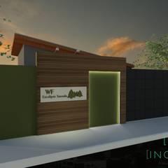 Projeto Corporativo- Rústico Contemporâneo: Espaços comerciais  por INOVE ARQUITETURA