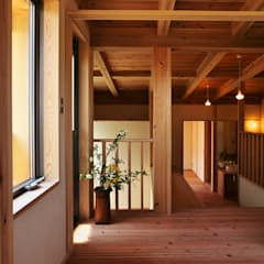 子供部屋から中間階を眺める: 水野建築研究所が手掛けた子供部屋です。