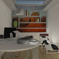 Kleedkamer door architecturbandesign, Tropisch