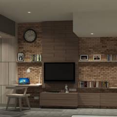 Show Unit - Malioboro Park View Apartment: Kamar Tidur oleh studio tektonik,