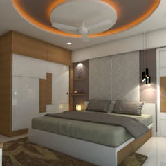 sai ram projects, kondapur:  Bedroom by shree lalitha consultants