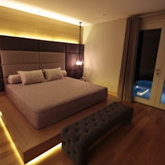 Ms San San private bedroom:  Kamar Tidur by Kottagaris interior design consultant