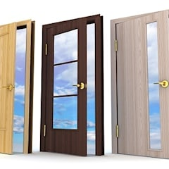 Doors by Sistemacase Srls, Modern Engineered Wood Transparent