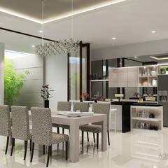 Araya, Malang:  Ruang Makan by AIRE INTERIOR