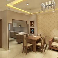 3 Floor Residential Villa:  Kitchen by Srijan Homes