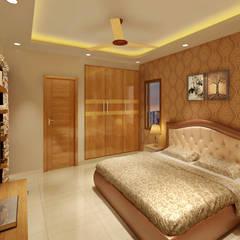ห้องนอน by Srijan Homes