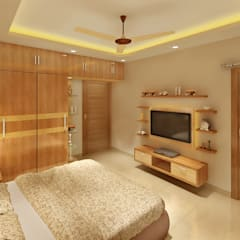 3 BEDROOM + STUDY:  Bedroom by Srijan Homes