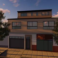 Fachada: Casas multifamiliares de estilo  por Lacerra Arquitectura