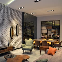 Lia Mimarlık İçmimarlık – Özgül Mobilya:  tarz Duvarlar