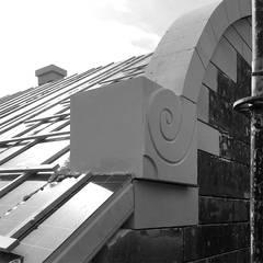 Mergelornamenten:  Rijtjeshuis door De Nieuwe Context