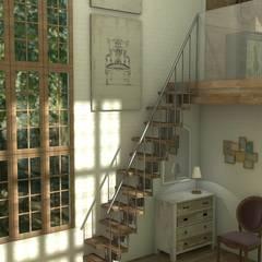 Mountain house: Salones de estilo  de Blophome