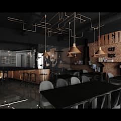 MIEDŹ-CZY-BYĆ: styl , w kategorii Gastronomia zaprojektowany przez L42 architektura,