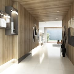 Setra Duta II House: Koridor dan lorong oleh INK DESIGN STUDIO,