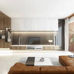 Setra Duta II House:  Ruang Keluarga by INK DESIGN STUDIO