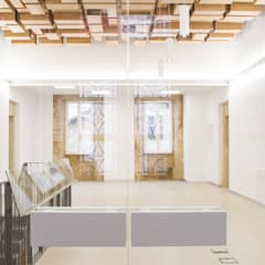 Rehabilitación de la Casa Consistorial de Lalín para dedicarla a Biblioteca Municipal: Palacios de congresos de estilo  de ENKIARQUITECTURA