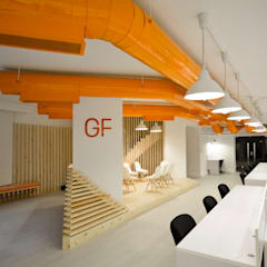 Ground Floor Area:  Office buildings by CUBEArchitects