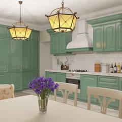 Загородный дом в стиле Арт-деко: Кухонные блоки в . Автор – ARTMIX-DESIGN,