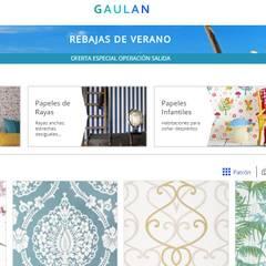 Papeles pintados Gaulan: Dormitorios de estilo  de Gaulan
