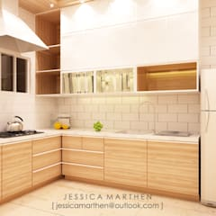 Mr S House (Emerald Town House PIK):  Dapur by JESSICA DESIGN STUDIO