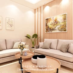 Mr S House (Emerald Town House PIK):  Ruang Keluarga by JESSICA DESIGN STUDIO