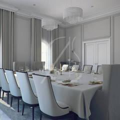 Modern Classic Villa Interior Design:  Dining room by Comelite Architecture, Structure and Interior Design , Modern