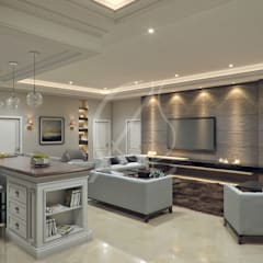 Living Area:  Living room by Comelite Architecture, Structure and Interior Design