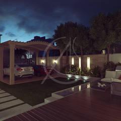 Modern Classic Villa Interior Design:  Front garden by Comelite Architecture, Structure and Interior Design