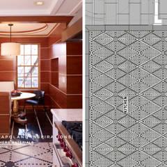 Residenza privata a New York: Cucina attrezzata in stile  di Pietre di Rapolano