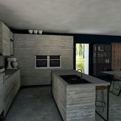 مطبخ تنفيذ StudioExNovo, إستوائي خشب Wood effect